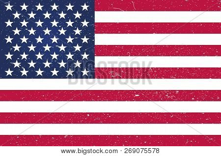 Grunge American Flag.vector Flag Of Usa.background American Flag (usa).