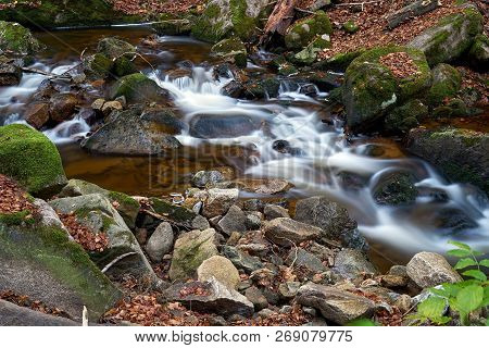 The River Ilse At Ilsenburg In The Harz National Park In Germany