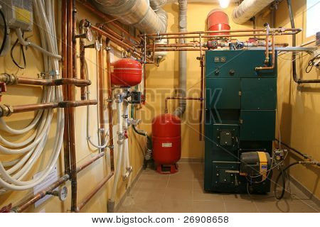 Independent heating in modern house