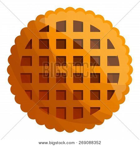 Net Biscuit Icon. Cartoon Of Net Biscuit Vector Icon For Web Design Isolated On White Background