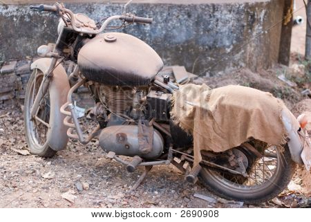 Old  Dusty Motorcycle