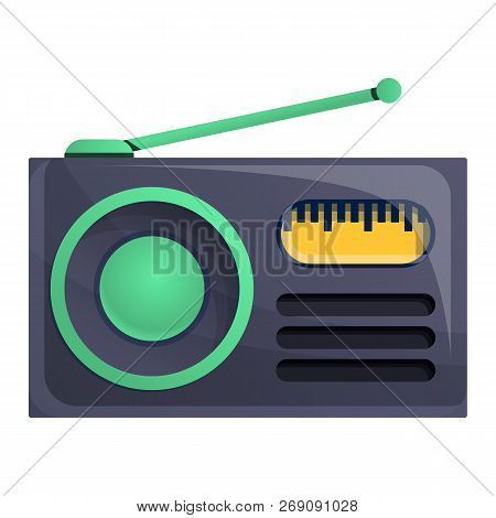Radio News Icon. Cartoon Of Radio News Vector Icon For Web Design Isolated On White Background