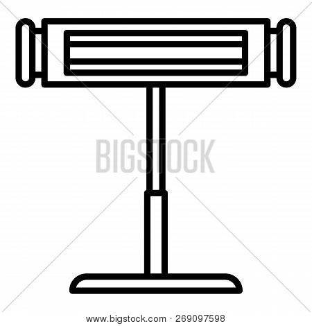 Commercial Stand Heater Icon. Outline Commercial Stand Heater Vector Icon For Web Design Isolated On