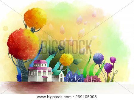 School Exterior and flora