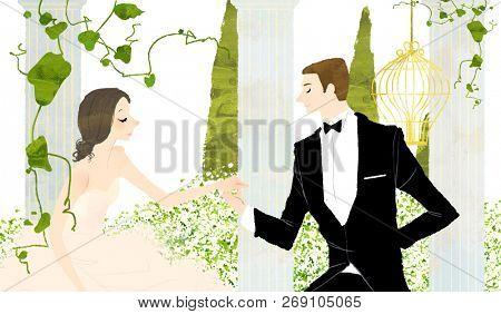 Young man proposing woman