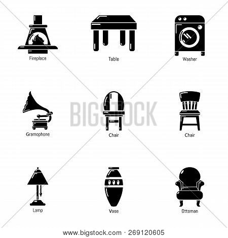 Parlour Icons Set. Simple Set Of 9 Parlour Vector Icons For Web Isolated On White Background