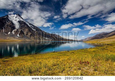 Karambar Lake, Also Known As Qurumbar Lake, Is A High Altitude Lake Located In Ishkomen, A Tehsil Of