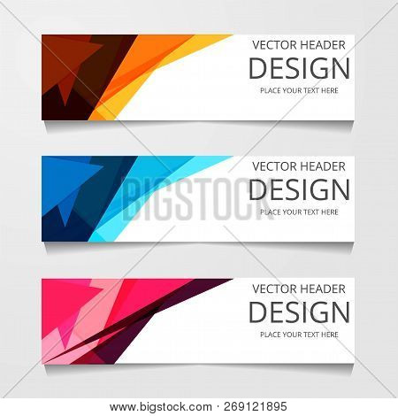 Vector Abstract Web Banner Design Template. Collection Of Web Banner Template. Abstract Geometric We