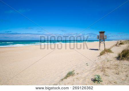 Wooden Watchtower In Palmar Beach
