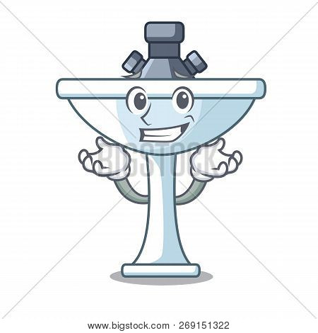 Grinning Kitchen Sink On Stely Modern Character