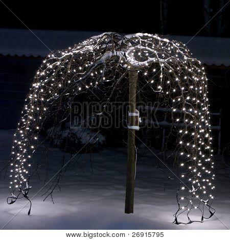 festive illumination outdoors poster