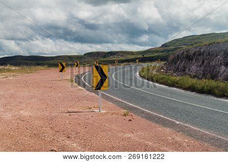 Road Across Gran Sabana Region In National Park Canaima, Venezuela