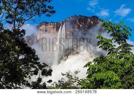 Angel Falls Salto Angel , Worlds Highest Waterfall 978 M , Venezuela