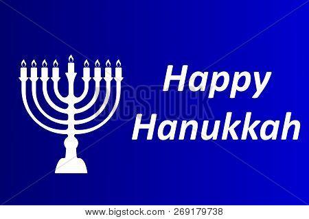 Hanukkah Typographic Vector Design - Happy Hanukkah. A