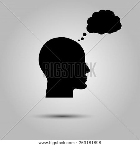 Thinking Man Icon Person Thinking. Icon Bubble