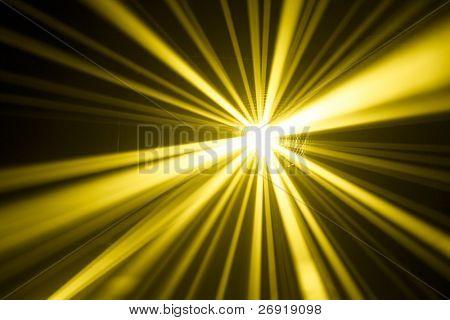 yellow disco lights