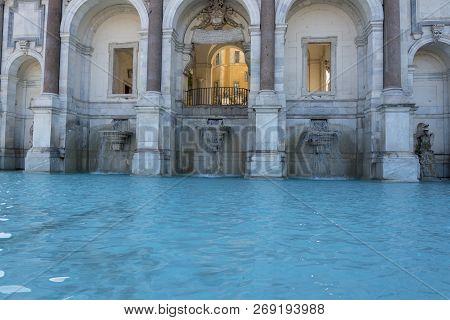 Fontana Dell'acqua Paola Also Known As Il Fontanone, The Big Fountain Is A Monumental Fountain Locat