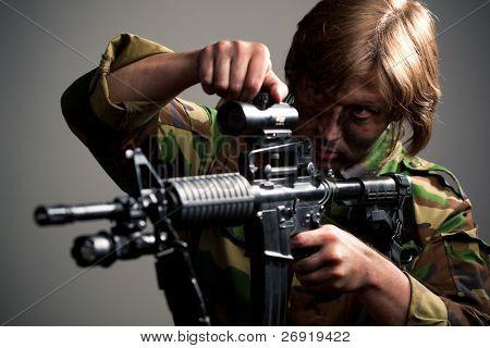 strike ball shooter aiming a gun
