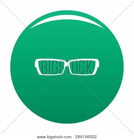 Astigmatic Glasses Icon. Simple Illustration Of Astigmatic Glasses Vector Icon For Any Design Green