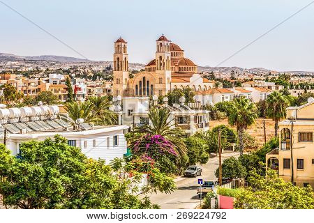 View Of The City Of Paphos In Cyprus. Paphos Is Known As The Center Of Ancient History And Culture O