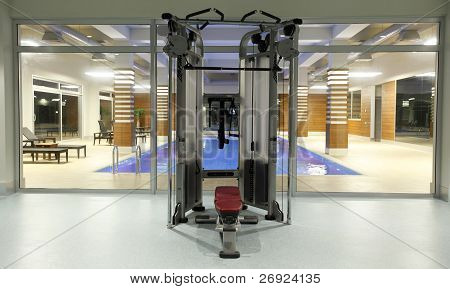 modern gym and fitness room