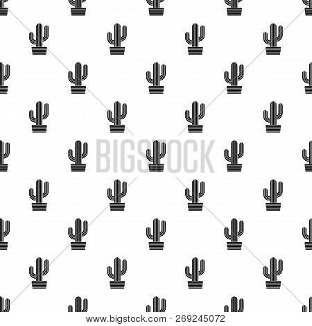 Tall Cactus Icon. Simple Illustration Of Tall Cactus Icon For Web