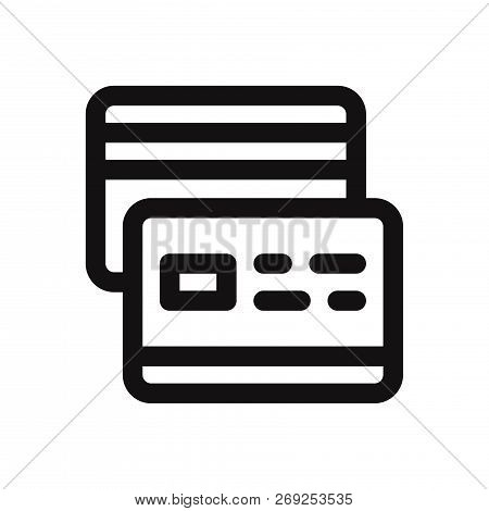Credit Card Icon Isolated On White Background. Credit Card Icon In Trendy Design Style. Credit Card