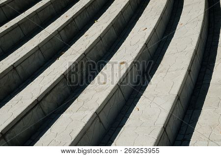 An Abstract Background Of Stairs With Shadow