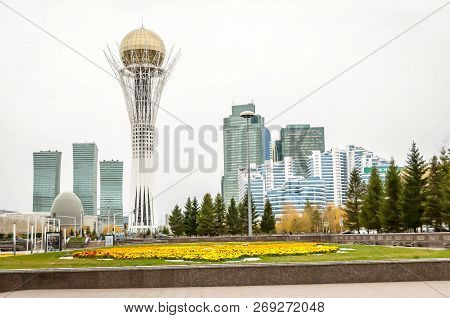 Astana, Kazakhstan. October 12, 2018. Ak Orda Presidential Palace, It Is The Official Workplace Of T