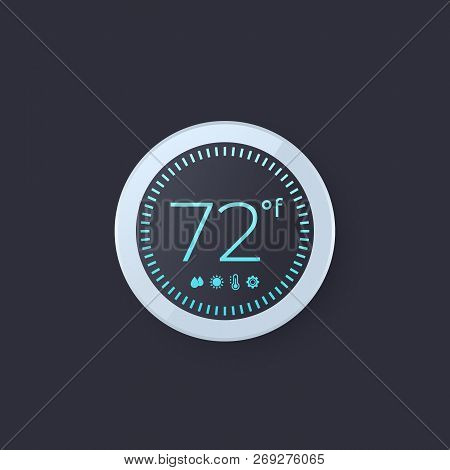 Digital Thermostat Vector Illustration, Eps 10 File, Easy To Edit