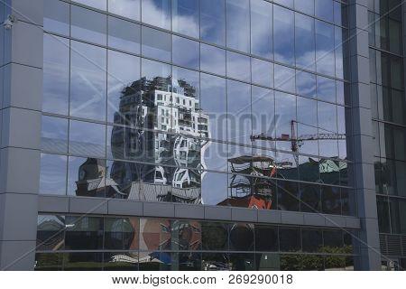 Condo and Construction Reflected in Halifax, Nova Scotia, Canada poster