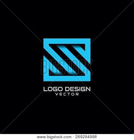 S Symbol Typography Logo Design. Line Art S Symbol Logo Design