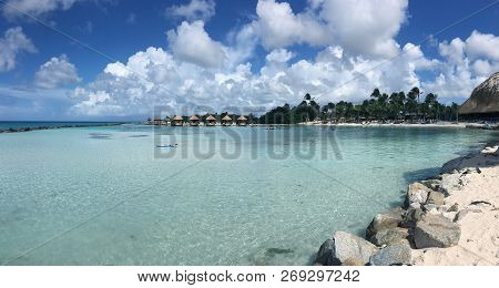 Beach Scene On A Beautiful And Tranquil Caribbean Island