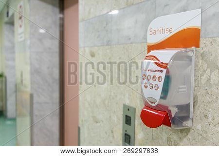 Public Hand Disinfectant Sanitizer Dispenser Available Public Amenity For Hygiene