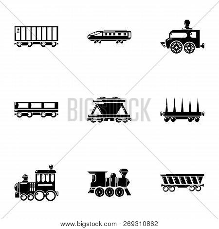 Commuter Train Icons Set. Simple Set Of 9 Commuter Train Vector Icons For Web Isolated On White Back