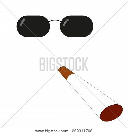 6d6b9f3883d Glasses Pixel Vector Icon. Pixel Art Glasses Of Thug Life Meme And Smoke -  Isolated