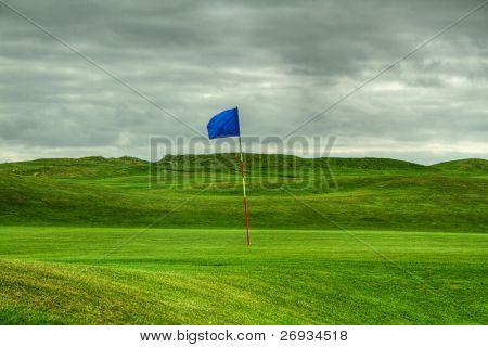 Flag on the golf field