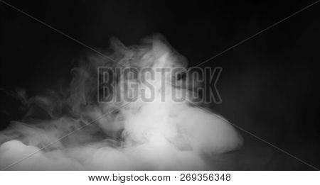 Rolling Billows Of Smoke Mist Clouds From Dry Ice Across The Bottom Even Light