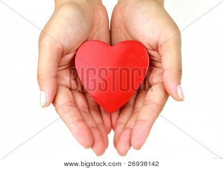 Heart in the hands