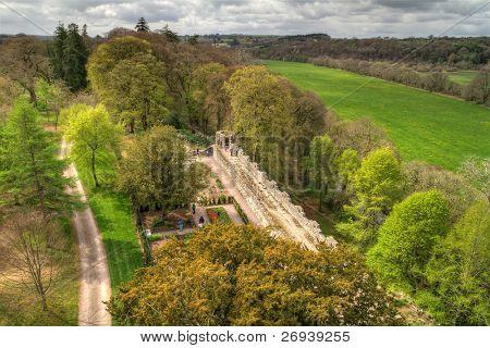 Garden view from the top of Blarney Castle - Ireland