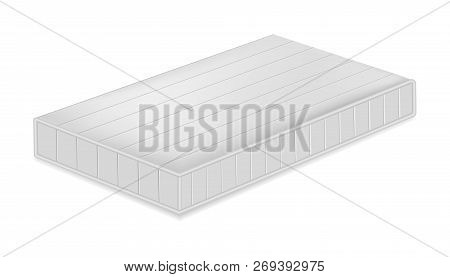 Soft Mattress Mockup. Realistic Illustration Of Soft Mattress Mockup For Web Design Isolated On Whit