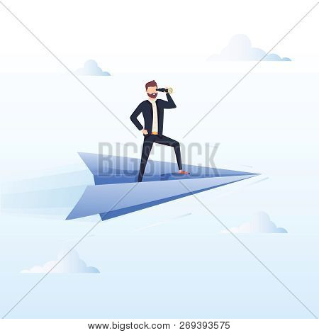 Ready To Fly. Business Vector Concept Illustration. Winner Business And Achievement Concept. Busines