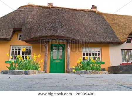 Irish traditional cottage house in Adare - landmark