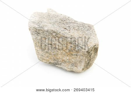 Magmatic Rock Isolated Over White
