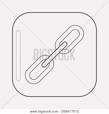 Link Icon Line Element. Vector Illustration Of Link Icon Line Isolated On Clean Background For Your