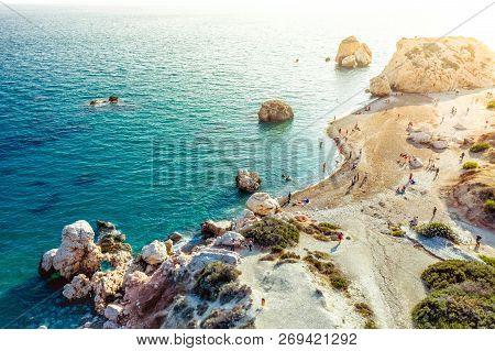 Birthplace Of Aphrodite - Petra Tou Romiou. Paphos District, Cyprus.