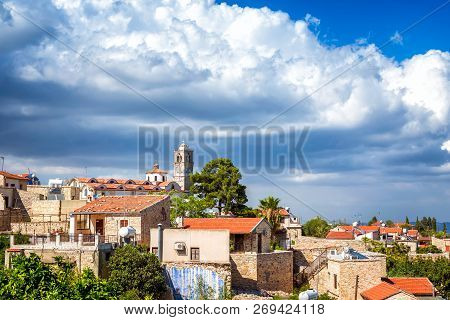 Traditional Picturesque Mountain Village Of Pano Lefkara. Larnaca District, Cyprus.