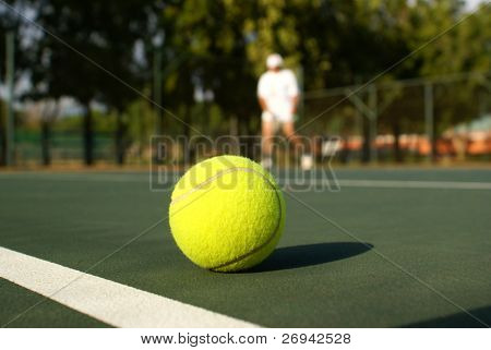 On the tennis court
