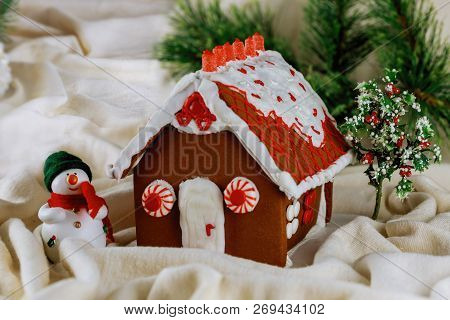 Gingerbread House. Merry Christmas And Happy New Year Holiday Sweets Holiday Traditions. Holiday Con