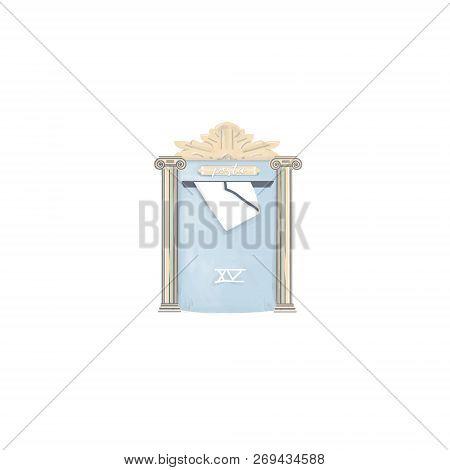 Mailbox Posta Letter Drawing Digital Element Illustration For Letters Home Greece Posta On White Bac